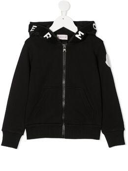 Moncler Enfant куртка на молнии с капюшоном и логотипом F29548G72720809B3