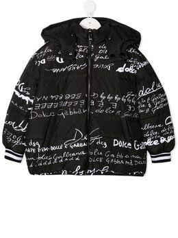 Dolce & Gabbana Kids двусторонний пуховик с логотипом L5JBJDG7XBO