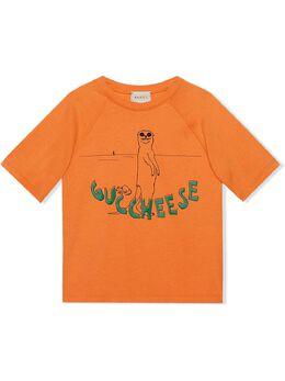 Gucci Kids футболка с принтом Guccheese 575094XJCP1