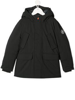 Save The Duck Kids куртка с капюшоном и логотипом P4318BSMEGY0