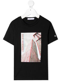 Calvin Klein Kids футболка с круглым вырезом и фотопринтом IB0IB00606