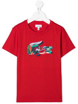 Lacoste Kids футболка с логотипом TJ132500HBC