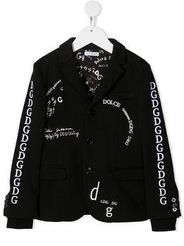 Dolce & Gabbana Kids пиджак с вышивкой L4JE25G7XCJ