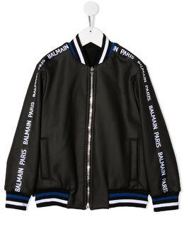 Balmain Kids куртка со вставками 6N2510NB540930