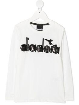 Diadora Junior футболка с декорированным логотипом 026297