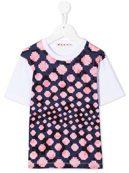 Marni Kids футболка с геометричным принтом M002RDM00HZ