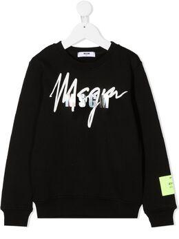 MSGM Kids толстовка с логотипом 025293110