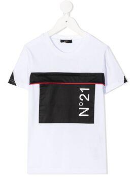 No.21 Kids футболка с круглым вырезом и логотипом N214AXN00030N100