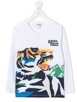 Kenzo Kids футболка Tiger с длинными рукавами KR10508