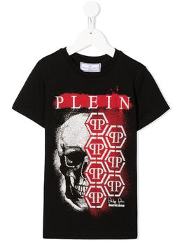 Philipp Plein Junior футболка с декорированным логотипом F20CBTK1028PJY002N