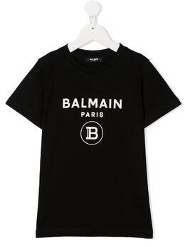 Balmain Kids футболка с логотипом 6N8561NX290