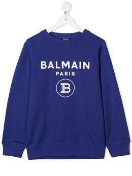 Balmain Kids толстовка с логотипом 6N4670NX300