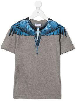 Marcelo Burlon Kids Of Milan футболка с принтом Wings MB111810