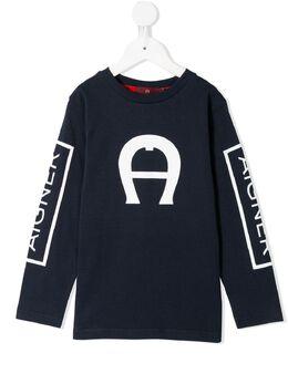 Aigner Kids футболка с длинными рукавами и логотипом 53124