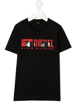 Diesel Kids футболка с круглым вырезом и логотипом 00J50Y