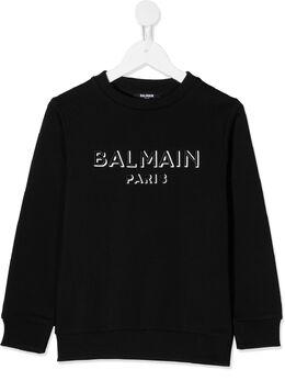 Balmain Kids толстовка с логотипом 6N4640C930