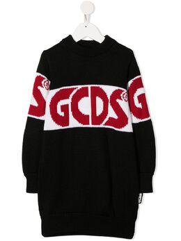GCDS Kids трикотажный джемпер с логотипом 025757