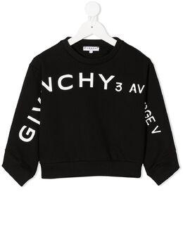 Givenchy Kids толстовка с круглым вырезом и логотипом H15189