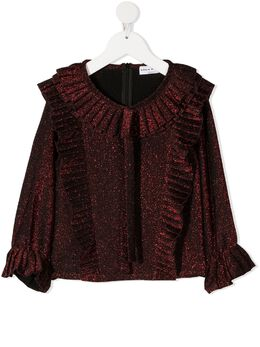 Sonia Rykiel плиссированная блузка с оборками 20W1SH04