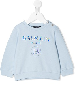 Balmain Kids толстовка со светоотражающим логотипом 6N4300NX300