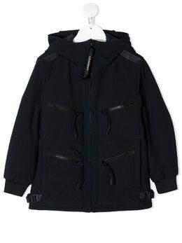 C.P. Company Kids куртка с длинными рукавами и линзами на капюшоне 09CKOW002A005784A