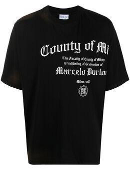 Marcelo Burlon County Of Milan футболка County Degree с логотипом CMAA054R21JER0051001