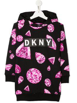 DKNY Kids худи с логотипом D32768M94