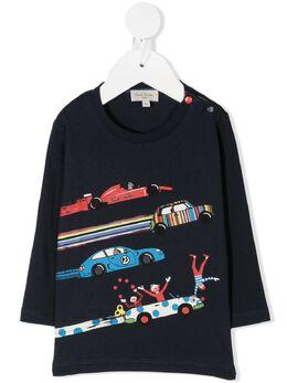 Paul Smith Junior футболка с длинными рукавами и графичным принтом 5R10531