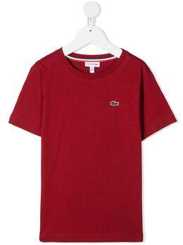 Lacoste Kids футболка с вышитым логотипом TJ144200
