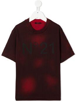 No.21 Kids футболка с принтом тай-дай и логотипом N214D9N0097