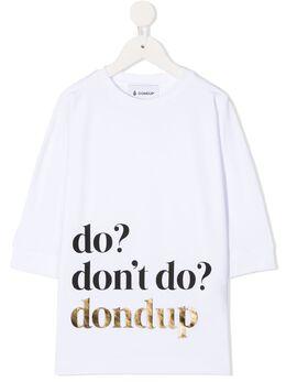 Dondup Kids футболка Do, Don't YS198JY0014GZA48
