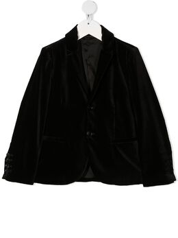 Emporio Armani Kids бархатный пиджак 6H4GJG4N4JZ