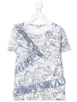 Kenzo Kids футболка с принтом KQ10118