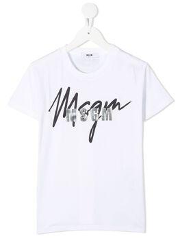 MSGM Kids футболка с логотипом 025297