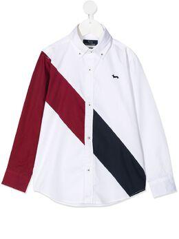 Harmont & Blaine Junior рубашка с диагональной полоской с длинными рукавами 211JC007