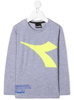 Diadora Junior футболка с длинными рукавами и логотипом 025447