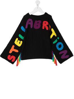 Stella McCartney Kids джемпер Stellabration вязки интарсия с кисточками 601153SPM18