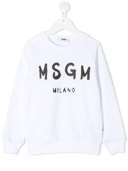 MSGM Kids толстовка с логотипом MS026831
