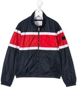 Woolrich Kids куртка в стиле колор-блок на молнии WKOU0089MR