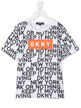 DKNY Kids футболка с логотипом D25D02
