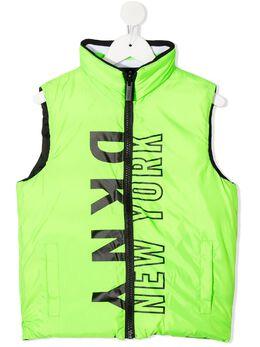 DKNY Kids стеганый жилет с логотипом D26332