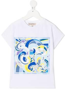 Emilio Pucci Junior футболка с графичным принтом ZO8201ZC200G