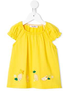 Familiar блузка с короткими рукавами и вышивкой 347625