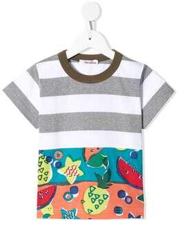Familiar футболка с контрастными вставками и принтом 347620