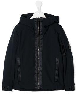 C.P. Company Kids куртка с капюшоном и линзой на рукаве KOW005A005784A