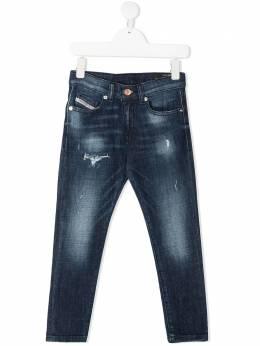 Diesel Kids джинсы с эффектом потертости J00155KXB8E