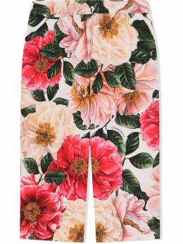 Dolce & Gabbana Kids широкие брюки с цветочным принтом L52P85FSRMW