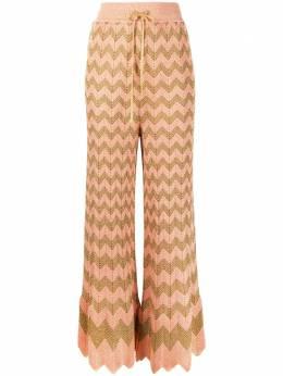 M Missoni раскрашенные брюки с узором зигзаг 2DI002832K0094
