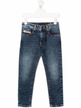 Diesel Kids джинсы кроя слим с эффектом потертости J00196KXB7S