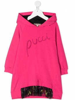 Emilio Pucci Junior платье с капюшоном и логотипом 9N1040NE020